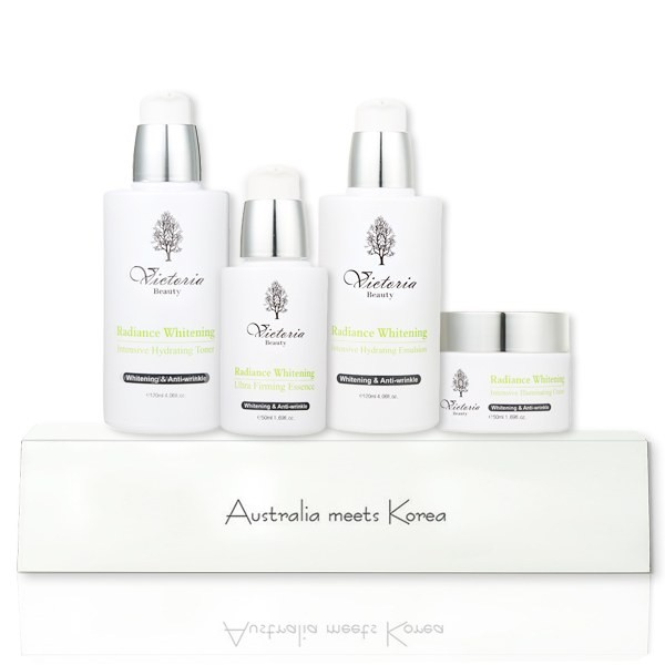 Bộ Dưỡng Da Cao Cấp Victoria Beauty Radiance Whitening Intensive Illuminating Set