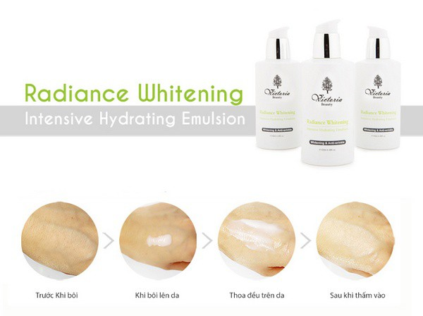 Sữa Dưỡng Dưỡng Da Cao Cấp Victoria Beauty Radiance Whitening Intensive Hydrating Emulsion 120ml