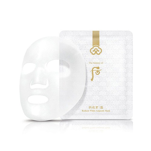 Mặt Nạ Dưỡng Trắng Da Whoo Radiant White Ampoule Mask 25g (8 Miếng)