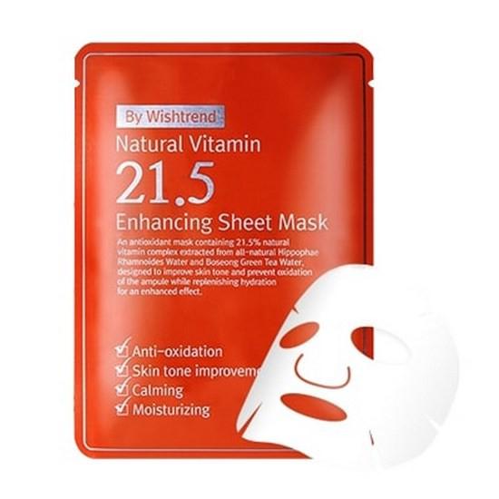 Mặt Nạ Giúp Cải Thiện Tình Trạng Lão Hóa Và Tone Màu Da Bywishtrend Natural Vitamin 21.5 Enhancing Sheet Mask