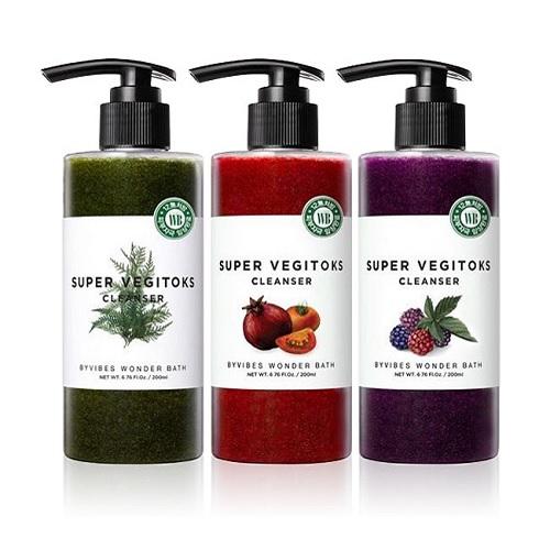 "[HOT] Sữa Rửa Mặt Sủi Bọt Khí ""3 in 1"" Bivybes Wonder Bath Super Vegitoks Cleanser 200ml"