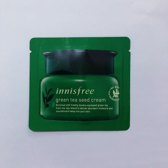 Combo 5 Kem Dưỡng Ẩm Chiết Xuất Hạt Mầm Trà Xanh Innisfree The Green Tea Seed Cream 1ml - Dùng thử
