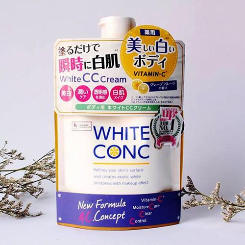 Review Kem Dưỡng Trắng Da White Conc Body CC Cream 200g