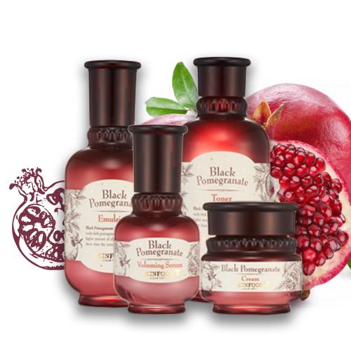Bộ Dưỡng Chống Lão Hóa Chiết Xuất Lựu Đen Skinfood Black Pomegranate
