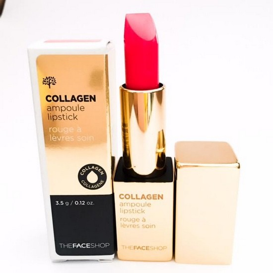 [BIG SALES] Son Thỏi Collagen The Face Shop Collagen Ampoule Lipstick
