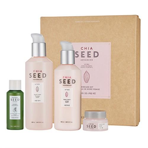 Bộ Sản Phẩm Chống Lão Hóa Da The Face Shop Chia Seed Advanced Skincare Set (4 Sản Phẩm)