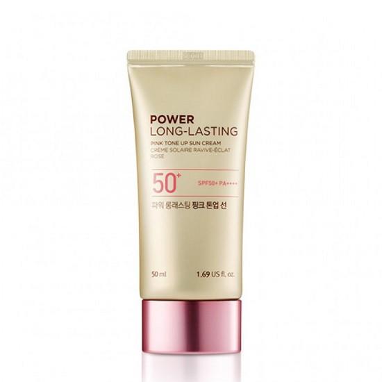 Kem Chống Nắng Lâu Trôi The Face Shop Power Long-Lasting Pink Tone Up Sun Cream SPF50+ PA++++ 50ml