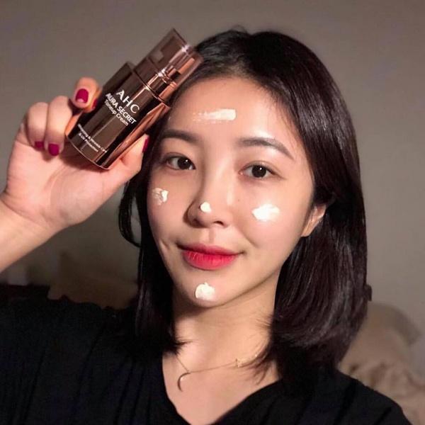 Kem Dưỡng Da Trắng Hồng Căng Bóng Ahc Aura Secret Tone Up Cream 50g