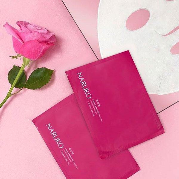 Mặt Nạ Cấp Nước Hoa Hồng Nhung Naruko Rose and Botanic HA Aqua Cubic Hydrating Mask EX