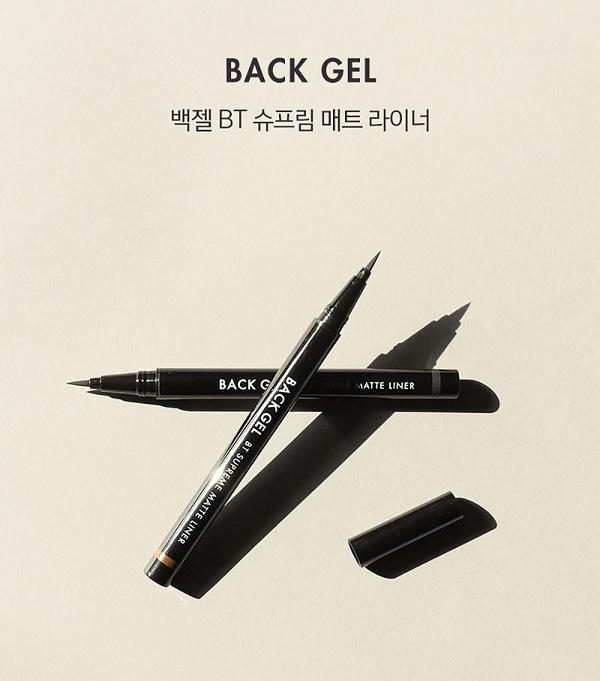 Bút Kẻ Mắt Nước Lâu Trôi Tonymoly Backgel BT Supreme Matte Liner (#01 BLACK)