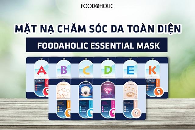Bao bì Mặt Nạ Giấy Chăm Sóc Da Toàn Diện Foodaholic Essential Mask 23g