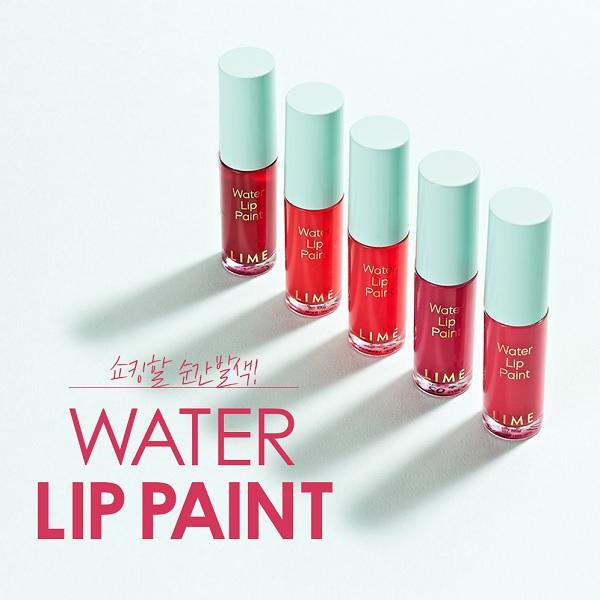 Hình ảnh thực tế Son Nước Lâu Trôi Lime Water Lip Paint 3.5ml
