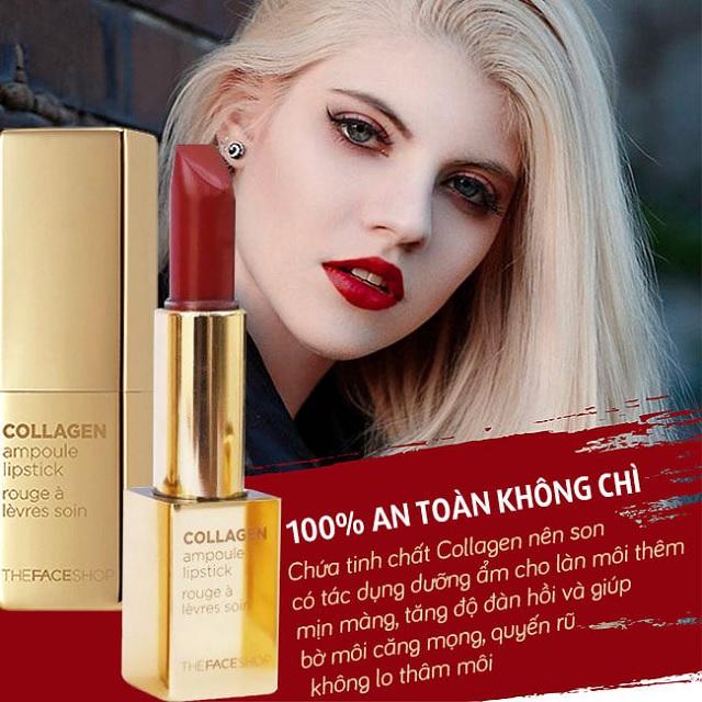 Chất Son Thỏi Collagen The Face Shop Collagen Ampoule Lipstick 3,5g