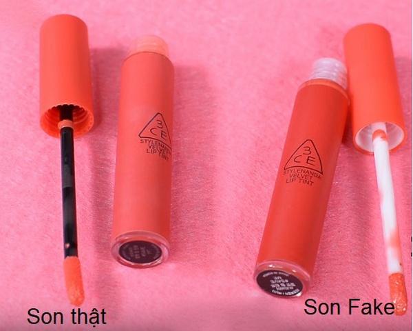 Cách Phân Biệt Thật Giả Son Kem 3CE Velvet Lip Tint