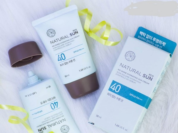 kem chống nắng the face shop no shine hydrating sun cream spf40 pa+++ review