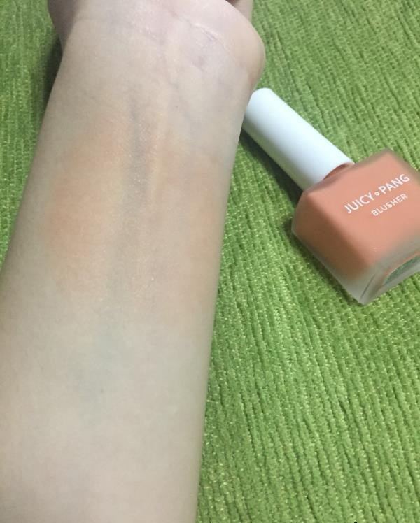 má hồng dạng kem apieu juicy pang water blusher review