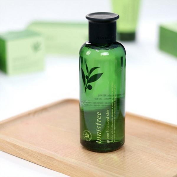 nước hoa hồng innisfree green tea seed skin phiên bản 2018 review