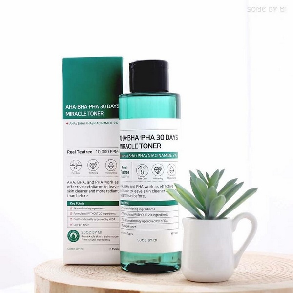 Nước Hoa Hồng Some By Mi AHA-BHA-PHA 30 Days Miracle Toner Review