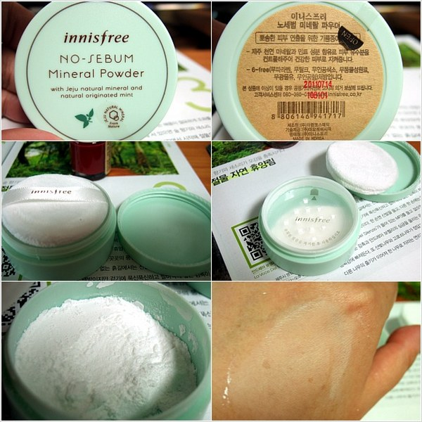 phấn phủ kiềm dầu innisfree no sebum mineral powder review