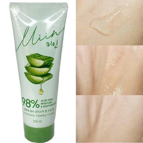 Review chất Gel Dưỡng Ẩm Da Nha Đam Miin 98% Aloe Vera Moisture & Soothing Gel 250ml