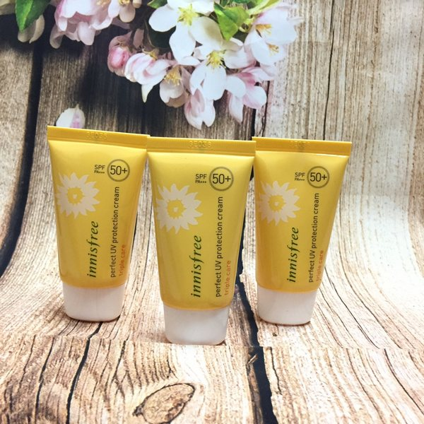 review kem chống nắng innisfree perfect uv protection cream triple care spf50 pa+++ 20ml