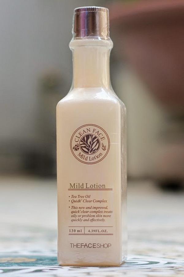 Review Nước Hoa Hồng Trị Mụn The Face Shop Clean Face Mild Toner