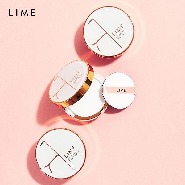 Hình ảnh thực tế Lime Real Cover Pink Cushion SPF50+ PA+++
