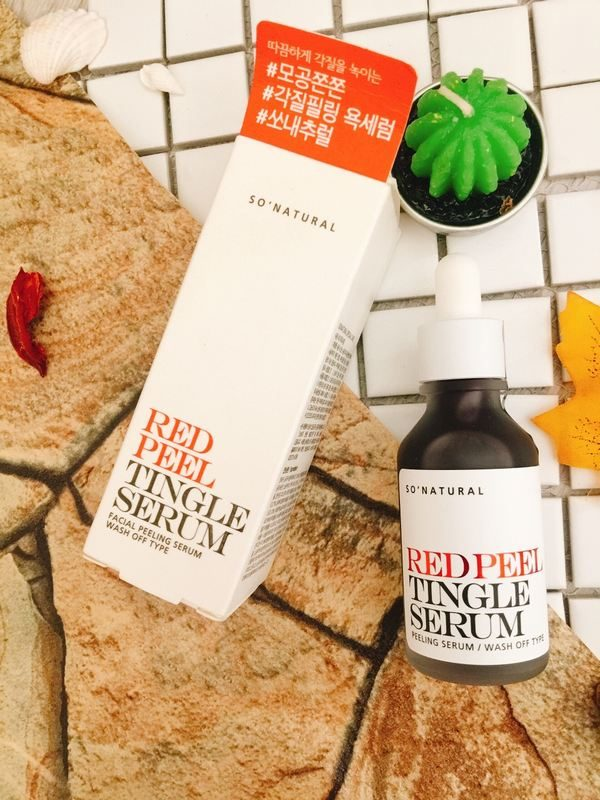 Review So Natural Red Peel Tingle Serum