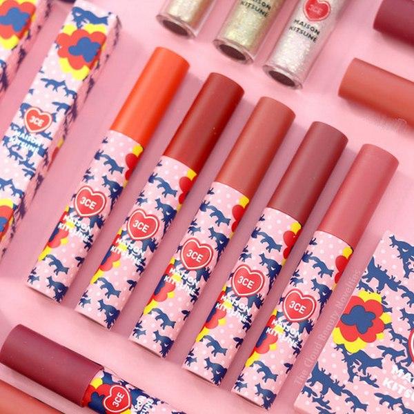 Son Kem 3CE Maison Kitsune Velvet Lip Tint