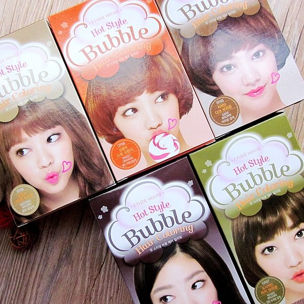 Review Thuốc Nhuộm Tóc Etude House Hot Style Bubble Hair Coloring