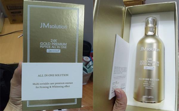 review tinh chất jm solution 24k gold premium peptide all