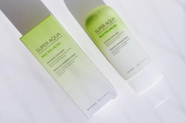 tẩy da chết missha super aqua mild peeling gel review
