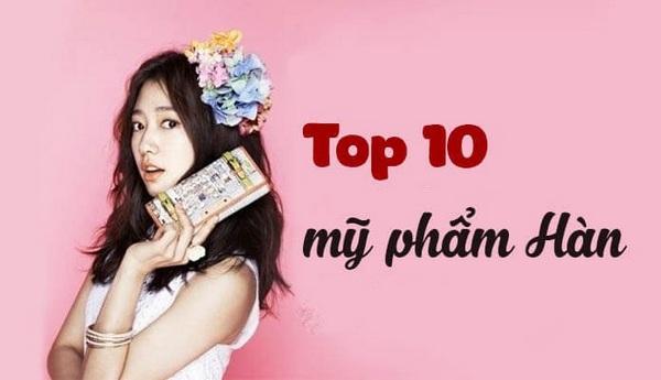 Top 10 Thương Hiệu Mỹ Phẩm Hàn Quốc Được Giới Trẻ Yêu Thích