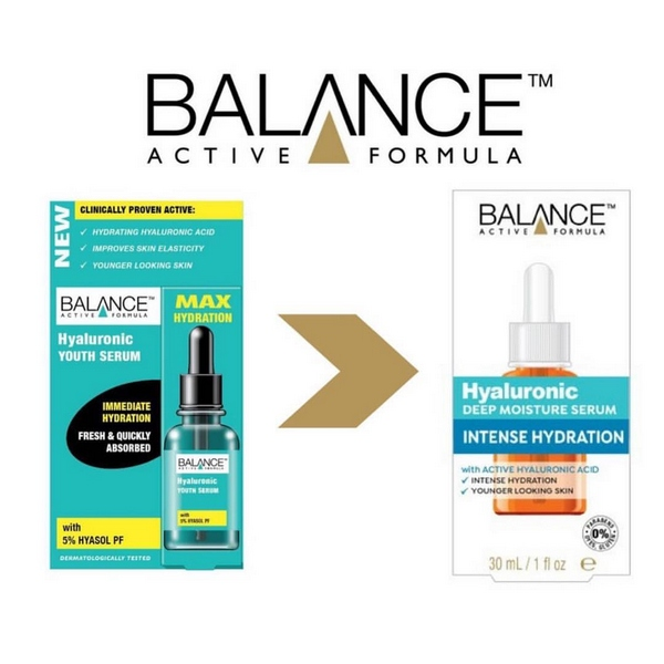 Serum Cấp Nước Dưỡng Ẩm Vượt Trội Balance Active Formula Hyaluronic Deep Moisture Serum