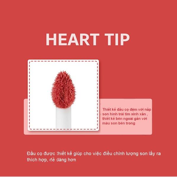 Thiết kế Son Tint Lì Siêu Mịn Lên Màu Chuẩn Black Rouge Color Lock Heart Tint 3.5ml