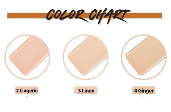 Tông màu Phấn Nước Che Khuyết Điểm Clio Stay Perfect Cover Cushion SPF50+ PA+++ (Kèm Lõi Thay)