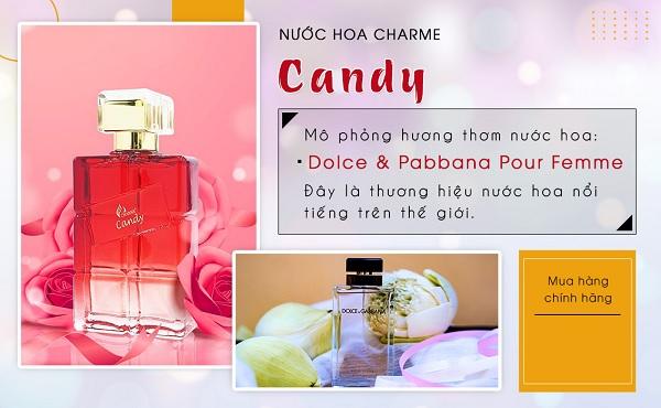 Mùi Nước hoa nữ Charme Candy 100ml