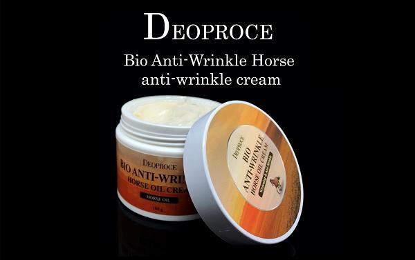 Kem Mỡ Ngựa Chống Nhăn Da Deoproce Bio Anti Wrinkle Horse Oil Cream 100g
