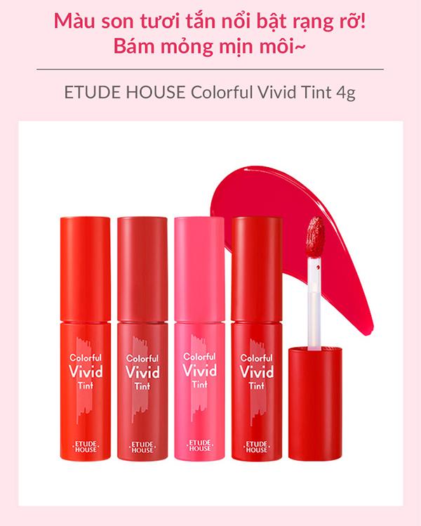 Son Tint Dưỡng Ẩm MôiEtude House Colorful Vivid Tint 4g