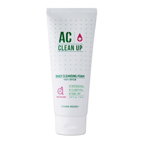 Sữa Rửa Mặt Trị Mụn Etude House AC Clean Up Daily Acne Cleansing Foam 150ml (Mới 2016)