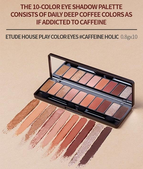 Bảng Phấn Mắt 10 Màu Cafe Đậm Thời Thượng Etude House Play Color Eyes Caffeine Holic