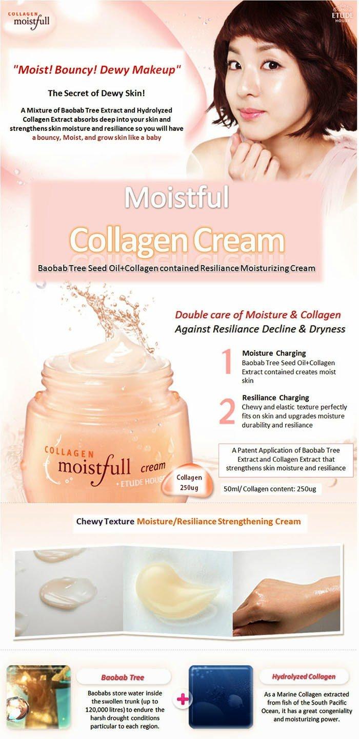 Kem dưỡng săn chắc da và ngăn ngừalão hoá Etude House Moistfull Collagen Cream 75ml