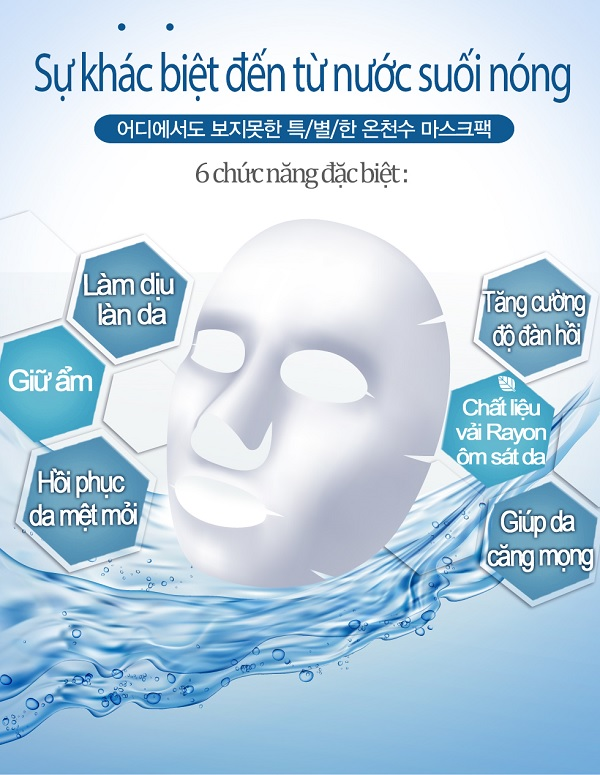 Thành phần nước suối nóng mặt nạ Enesti Hyaluronic Multi Care Mask 27g
