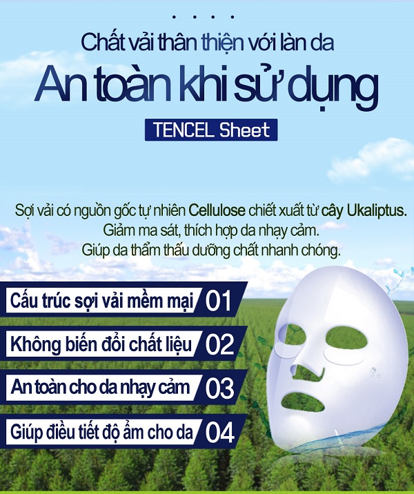 Chất vải mặt nạ Enesti Aloe Multi Care Mask 27g