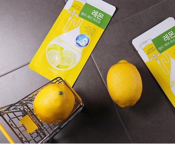 Hình ảnh thực tế Enesti Lemon Multi Care Mask 27g