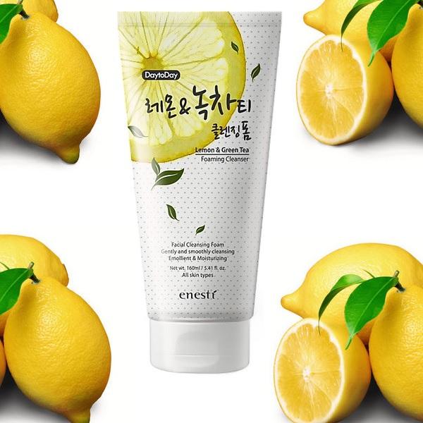 Bao bì mới Enesti DaytoDay Lemon And Green Tea Cleansing Foam 160ml