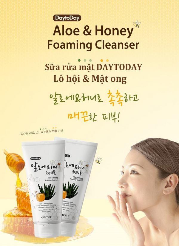Hình ảnh sữa rửa mặt Enesti Daytoday Aloe And Honey Foaming Cleanser 160ml