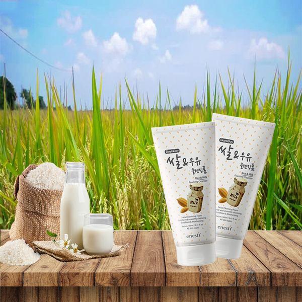 Hình ảnh thực tế Enesti Daytoday Rice And Milk Cleansing Foam 160ml