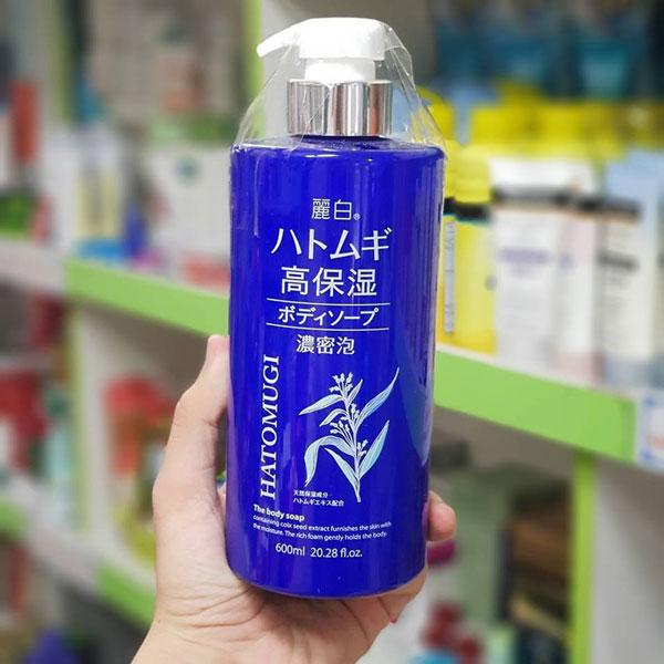 Ảnh thực tế Sữa Tắm Dưỡng Ẩm Trắng Da Hatomugi The Body Soap 600ml