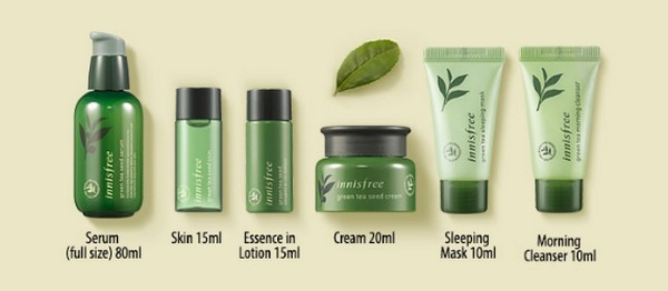 Set Dưỡng Trà Xanh Innisfree NEW Green Tea Seed Serum Special Set